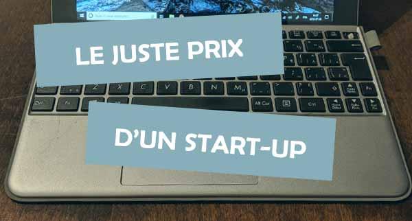 photo d'ordinateur et titre d'article sur le démarrage d'entreprises